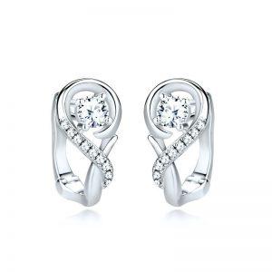 Boucles d'oreilless en argent 925