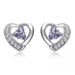 Coura de diamants zirconium en argent