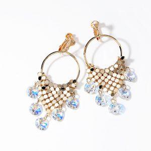 Boucles d'oreilles sublimes diamants bleus